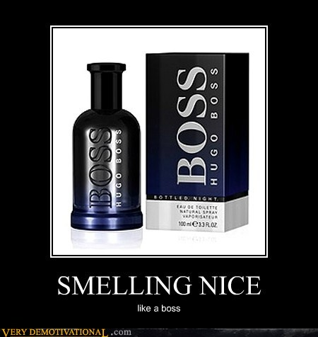 demotivational posters - SMELLING NICE