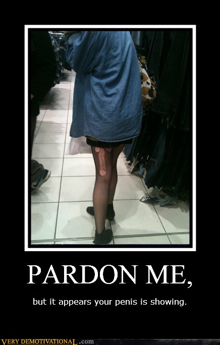 demotivational posters - PARDON ME