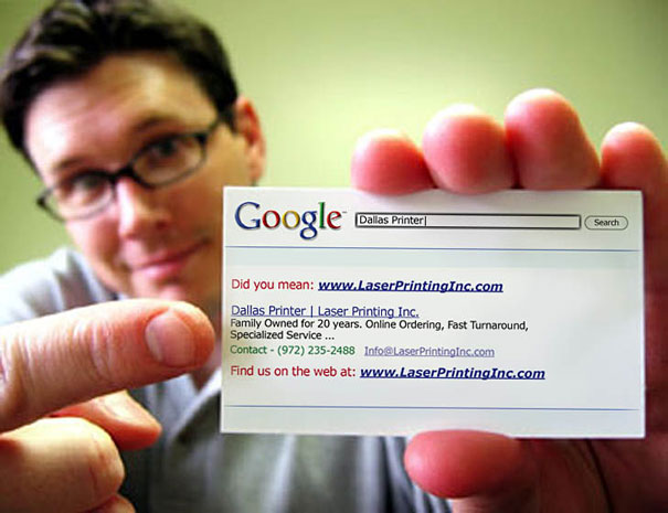 The coolest way to show your url on a business card funny pictures sign up for the new uberhumor newsletter reheart Gallery