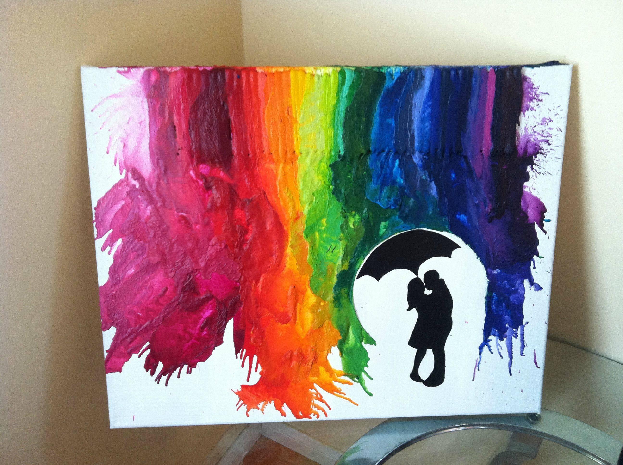 Простая картина красками своими руками