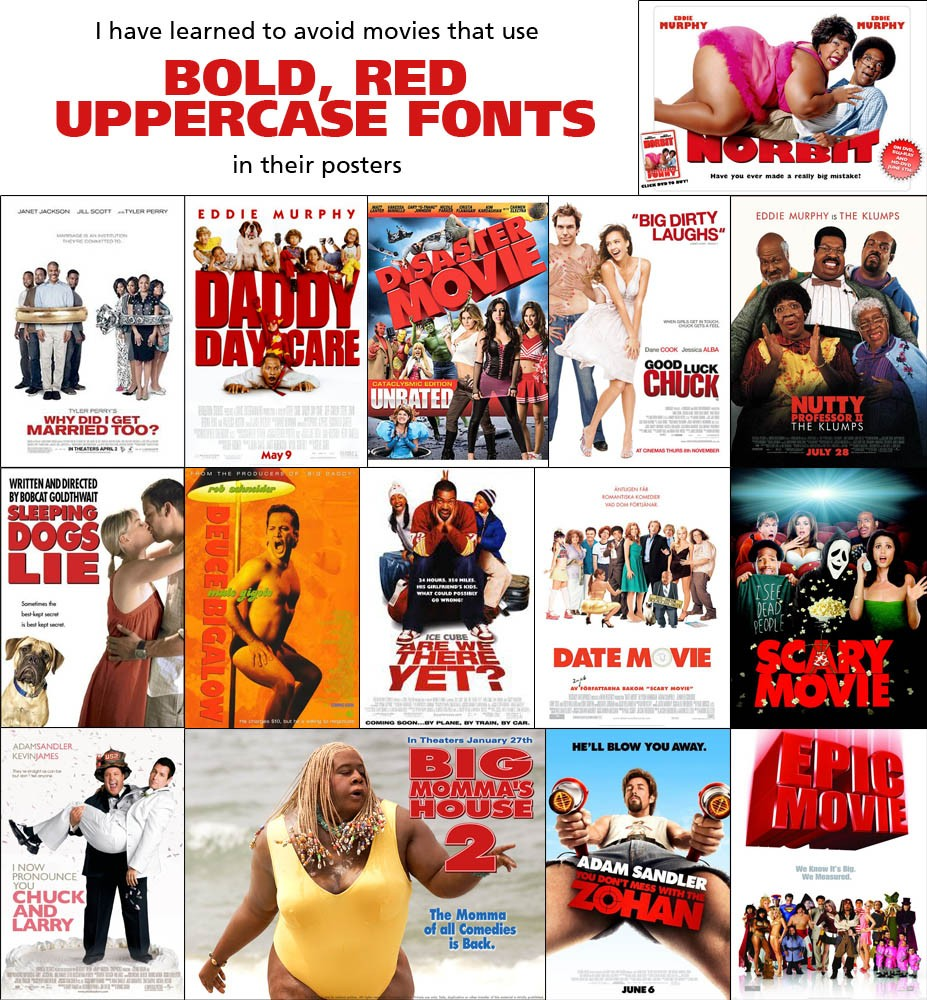I've learned to avoid movies with bold, red uppercase ... - photo#20