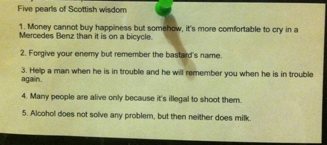 Five pearls of Scottish wisdom | Funny Pictures, Quotes ...