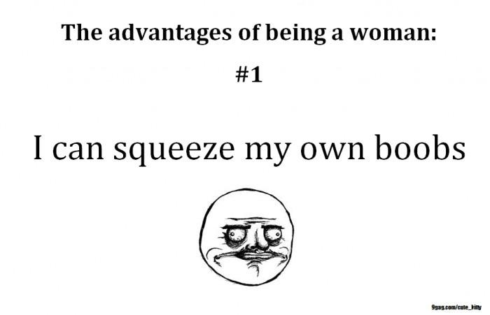 The advantages of being a woman | Funny Pictures, Quotes, Pics