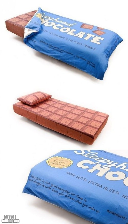 epic fail photos - WIN!: Chocolate Bed WIN