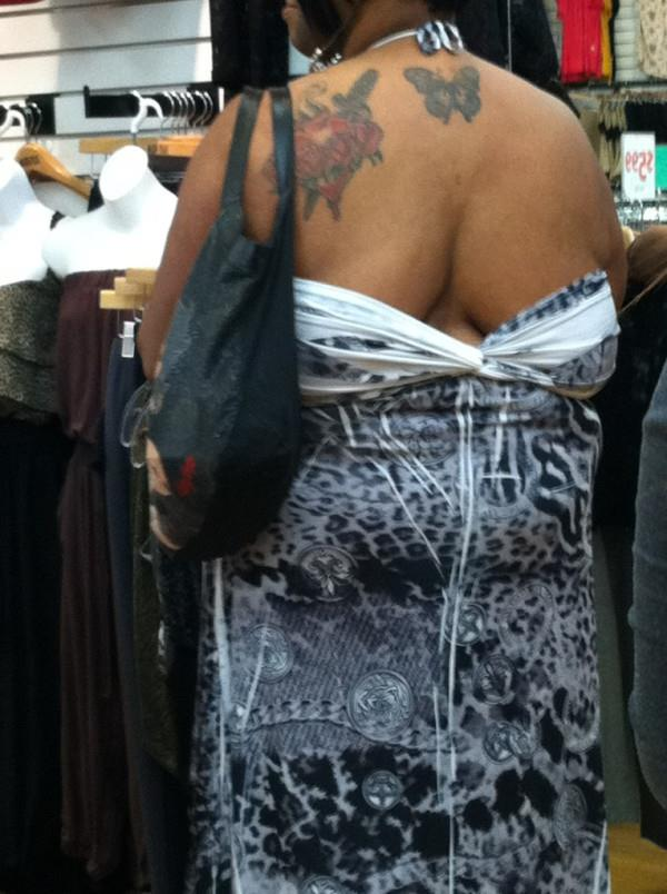 Miss, I believe your dress is on backwards...