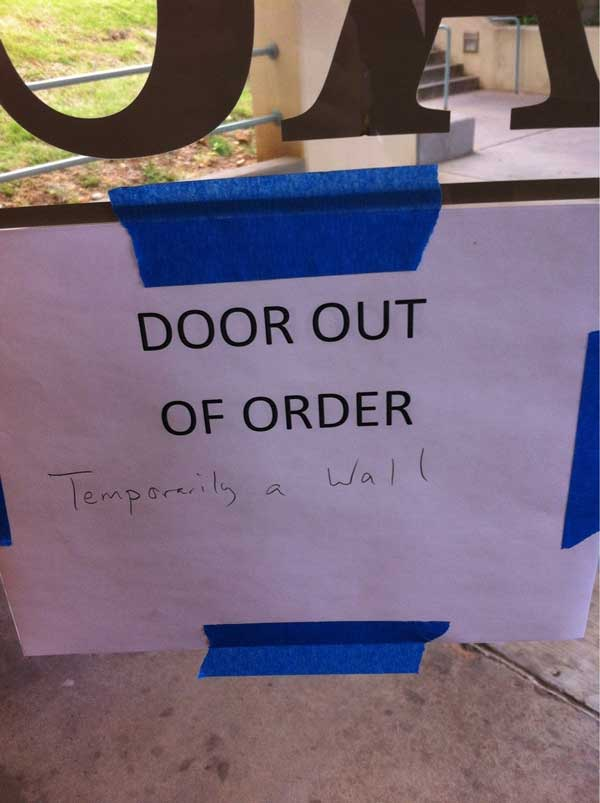 SIGN UP FOR THE NEW UBERHUMOR NEWSLETTER & Door Out of Order | Funny Pictures Quotes Pics Photos Images ...
