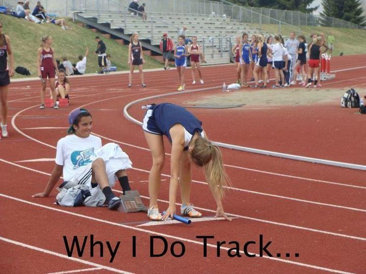 Track Quotes | Why I Do Track Funny Pictures Quotes Pics Photos Images