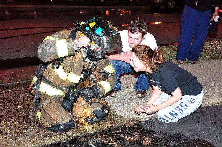 Salute to the fireman.