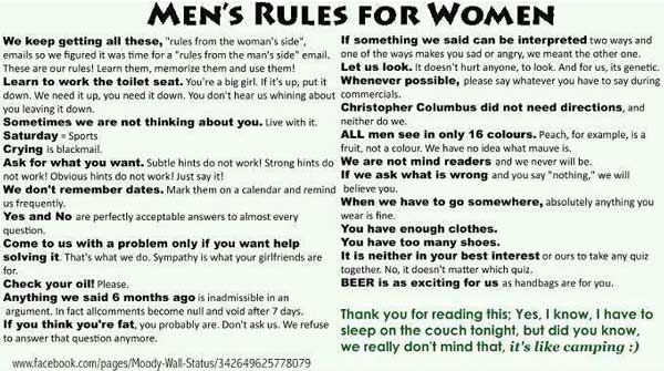 Found this lovely set of rules on facebook | Funny Pictures