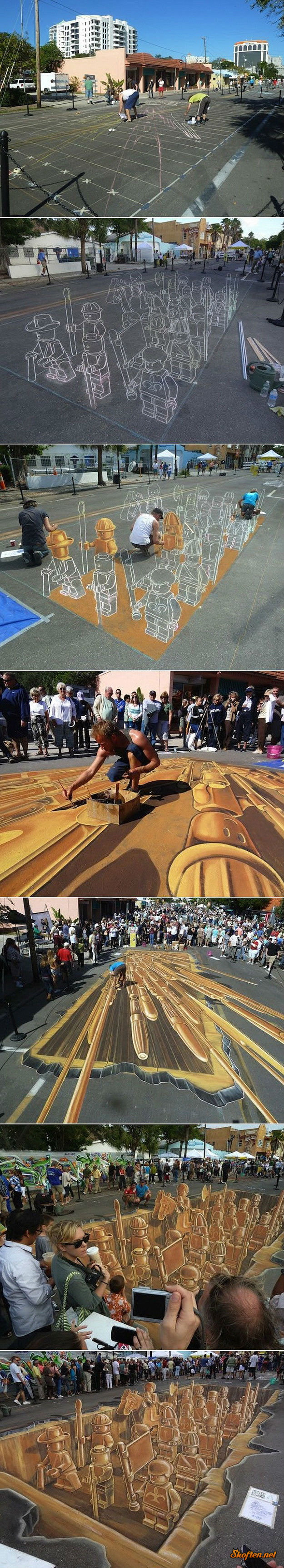 lego sidewalk drawing.