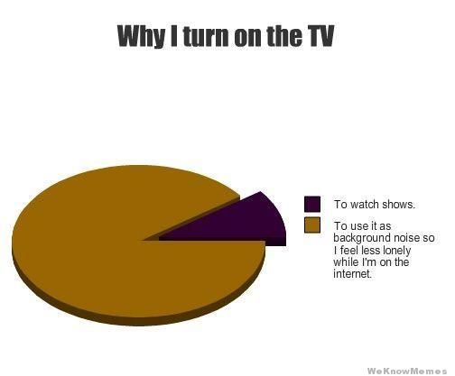 why I turn the tv on