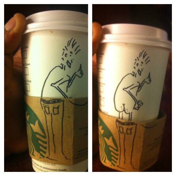 I got bored at Starbucks.. | Funny Pictures, Quotes, Pics ...