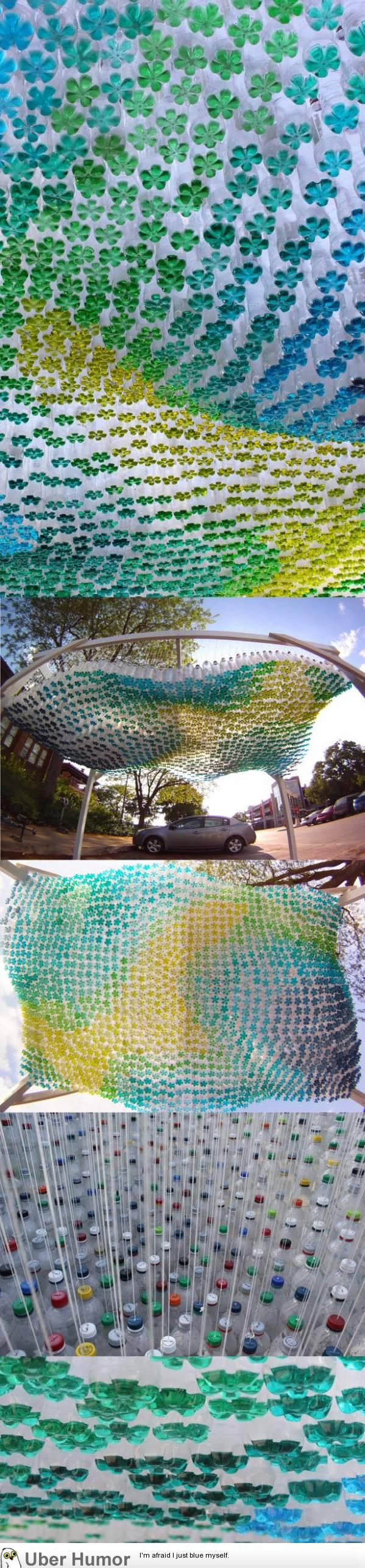 Plastic Bottle Carport : What my friends and i did with soda bottles funny