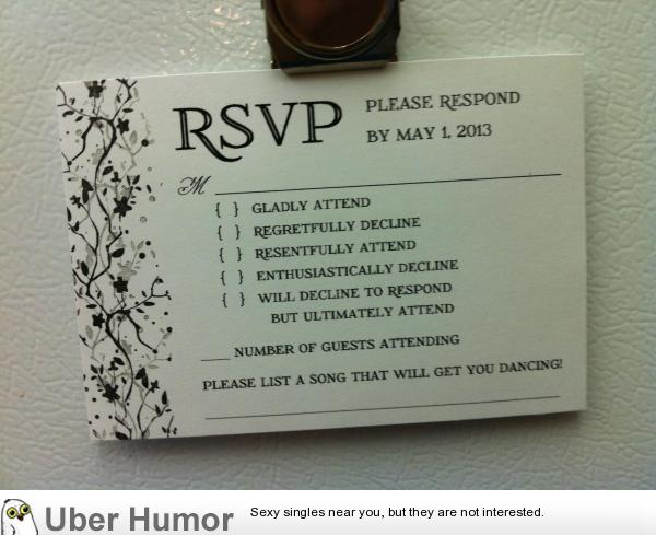 The awesome rsvp from my sisters wedding invitations still trying funny pictures stopboris Gallery