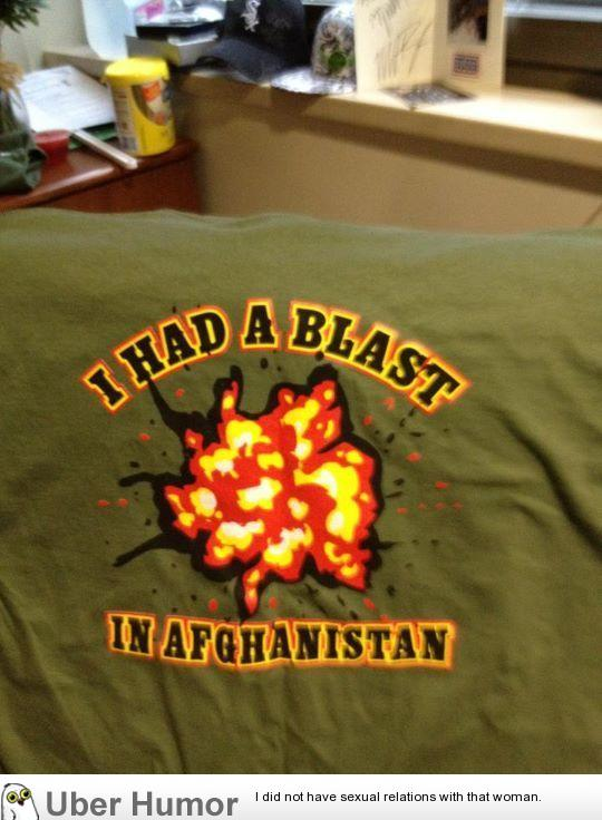 A couple of my friends were double-amputees in Afghanistan. They all had this shirt when I went to visit them.