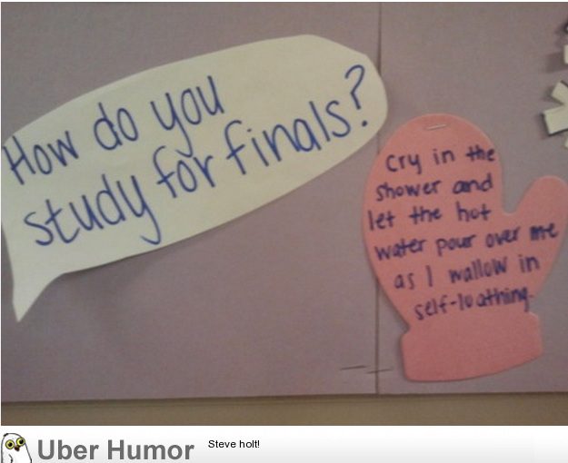 I Also Study For Finals This Way Funny Pictures Quotes Pics Impressive Finals Quotes