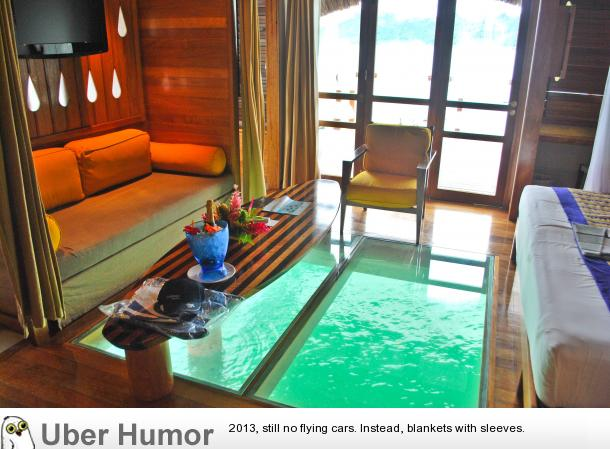 Hotel room in bora bora funny pictures quotes pics for Cute hotel rooms
