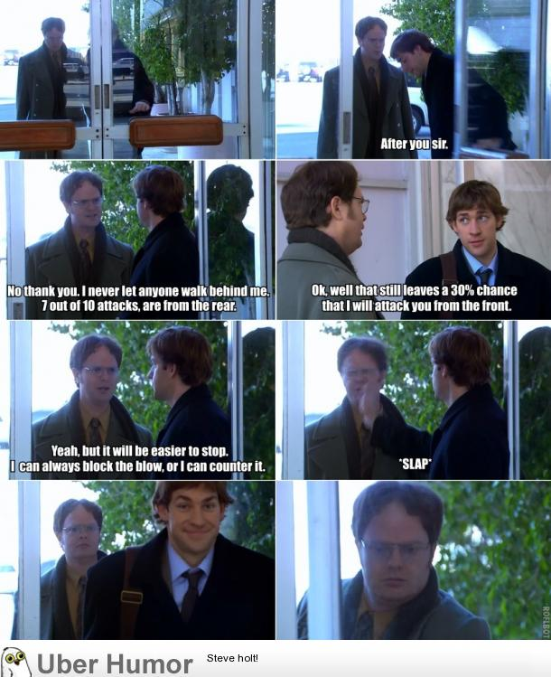 Classic Jim Dwight Moment From The Office Funny Pictures