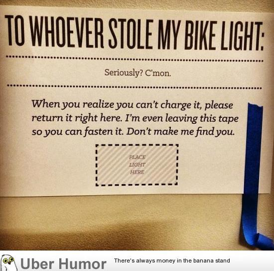 good luck finding your bike light funny pictures quotes pics