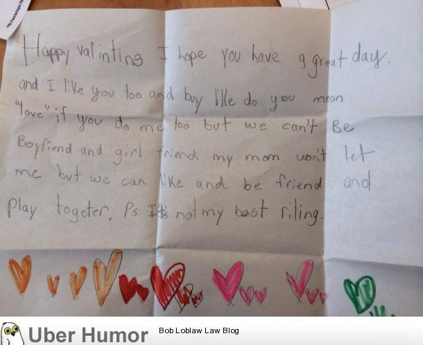 The greatest Valentine's note ever