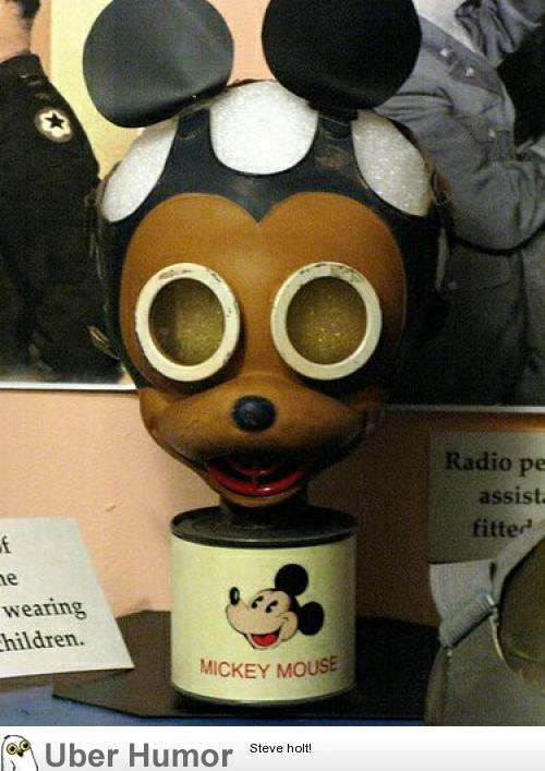 truly strange mickey mouse gas mask for american children during