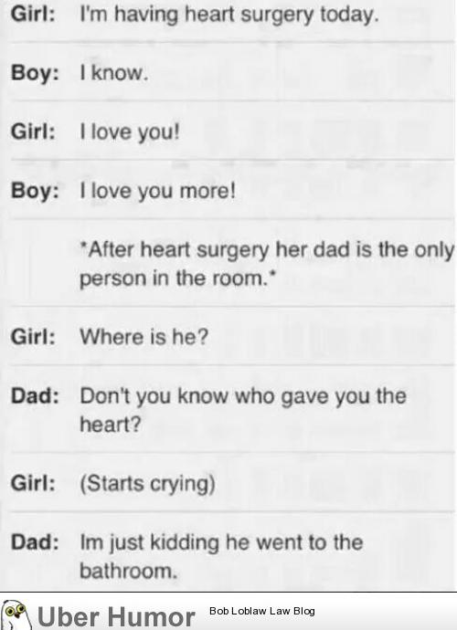 Classic Dad Joke Immediately After Heart Surgery Funny Pictures