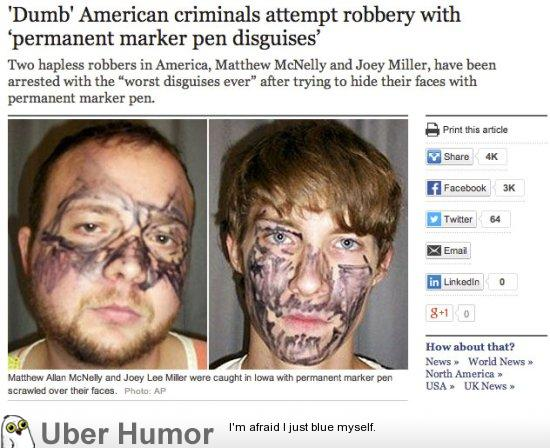 13 stupid criminals The path of crime is not an easy one it requires great skills, a lot of planning, and often a sharp, quick mind these dumb criminals had none of those, and their efforts to pursue the criminal career are both funny and miserable, but rarely truly dangerous.