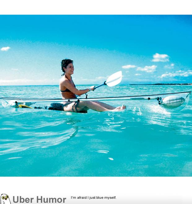 really cool looking transparent kayak funny pictures quotes pics