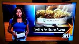 Reporter quits on air with style