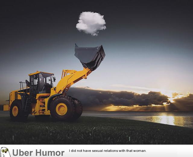 Awesome Photo Of Tractor Catching Cloud Funny Pictures Quotes