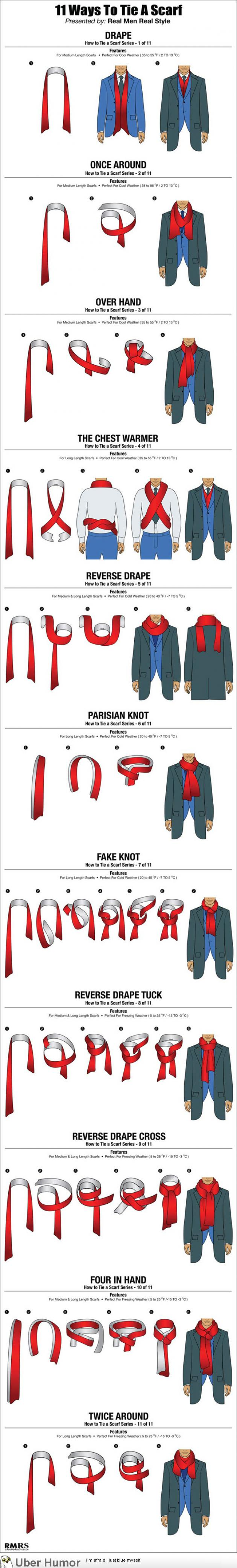 11 Ways A Guy Can Tie His Scarf