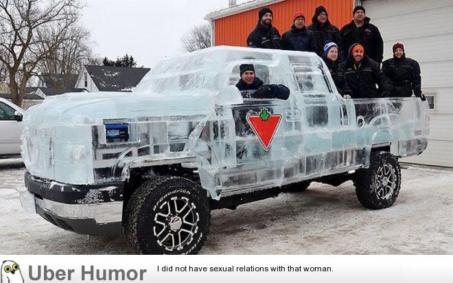 Truck Quotes Alluring Canadian Tire Makes A Fully Functional Truck Made Of Ice  Funny