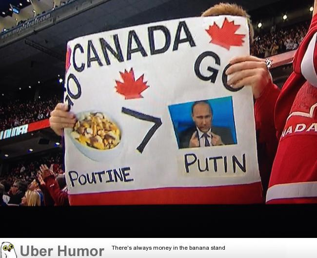 The most Canadian sign at the hockey game last night