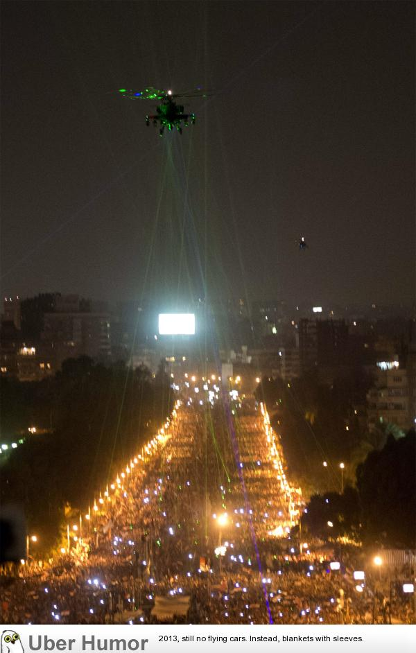 Egyptians shine laser pointers at military helicopter in protest | uberHumor.com
