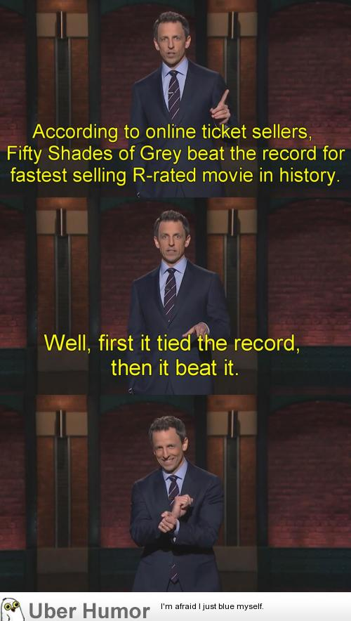 Fifty Shades Of Grey Is Literally Beating Records Funny Pictures