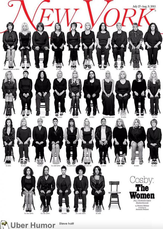 The Cover of 'New York Magazine' Showing 35 Women Accusing Bill Cosby of Sexual Assault