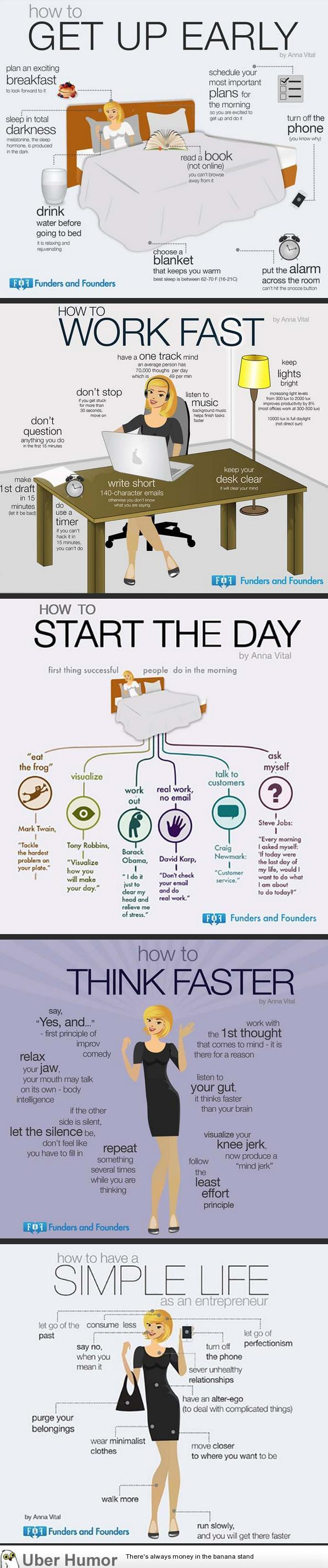 How to become more productive.