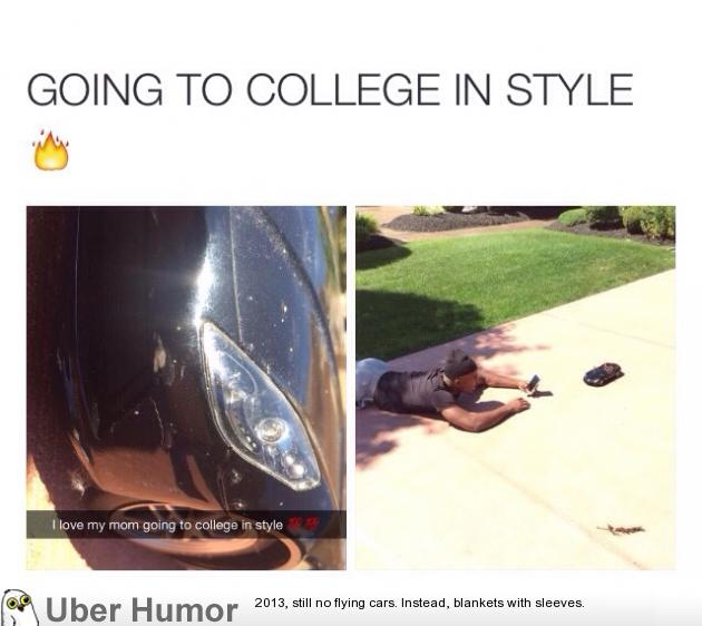 Going to college in style.