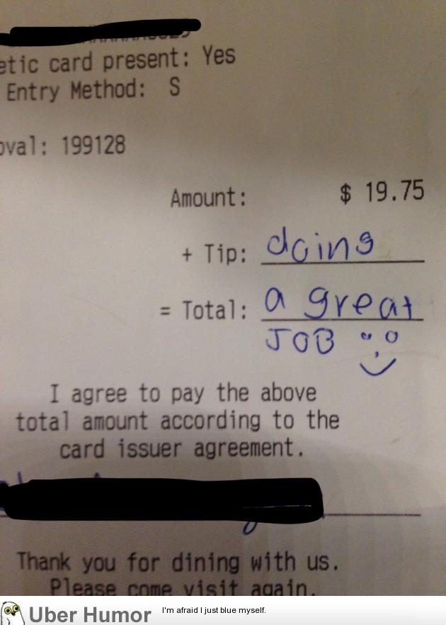Had a customer with Down Syndrome come in. This is the tip ...