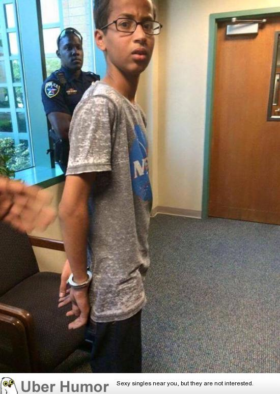 This is just sad: 14 year old Muslim student reaction to being arrested for bringing a clock into school