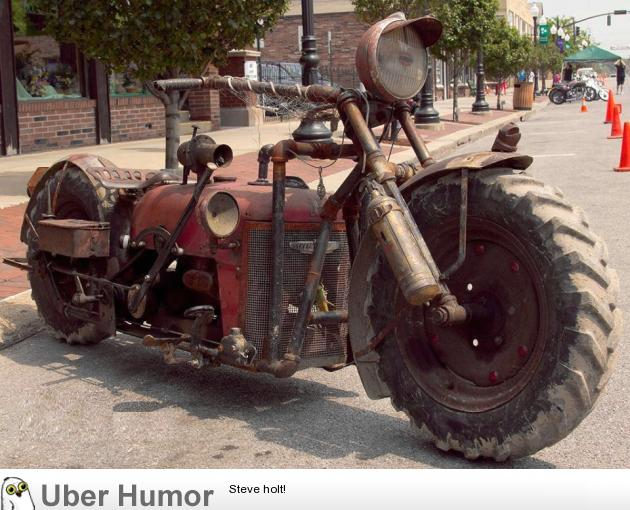 funny old motorcycle pictures  Motorcycle built from an old tractor | Funny Pictures, Quotes, Pics ...