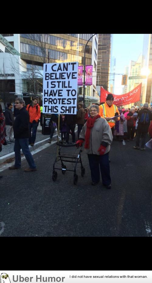 This Lady S Sign At The Vancouver Climate Change Rally Funny