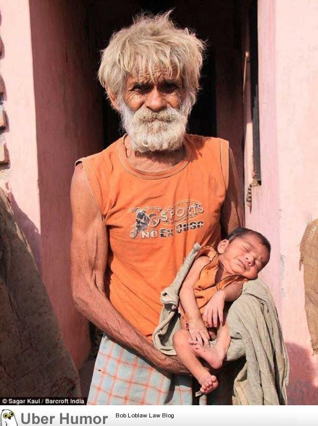 This is Ramjit Raghav, oldest father in the world. He became father at the age 96.