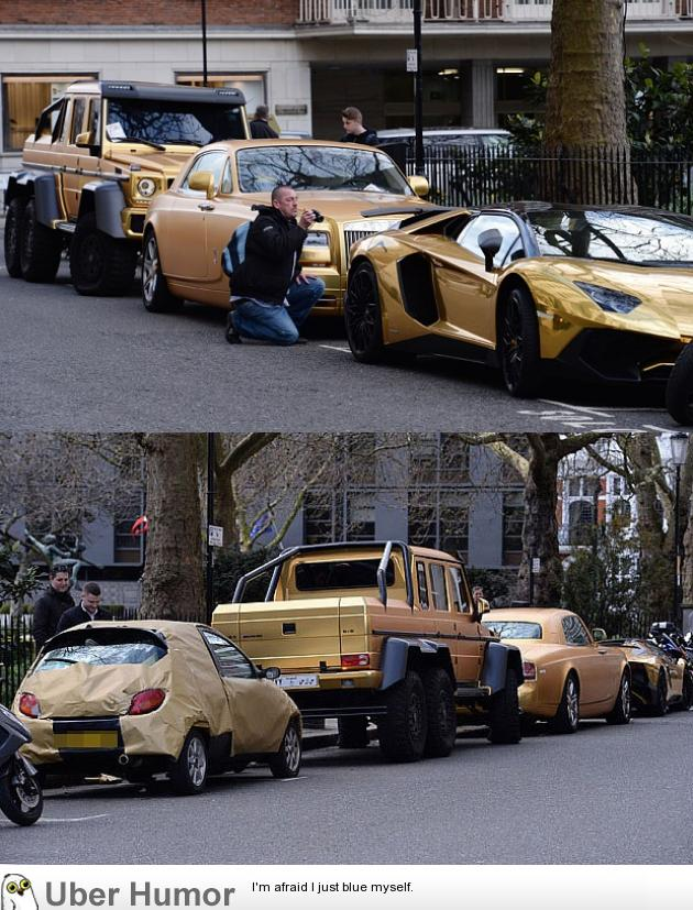 Luxury Gold Cars Funny Pictures Quotes Pics Photos Images