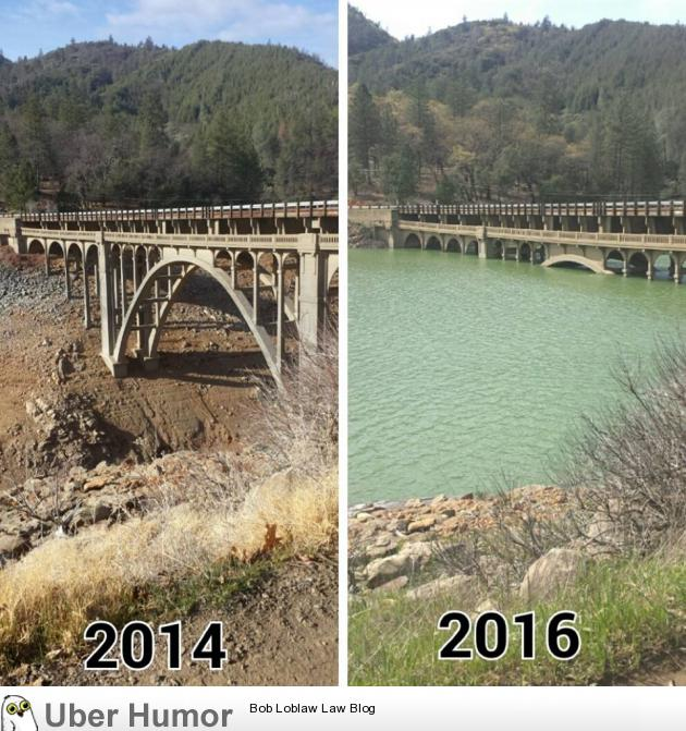 California\'s lake recovery from drought. | Funny Pictures ...