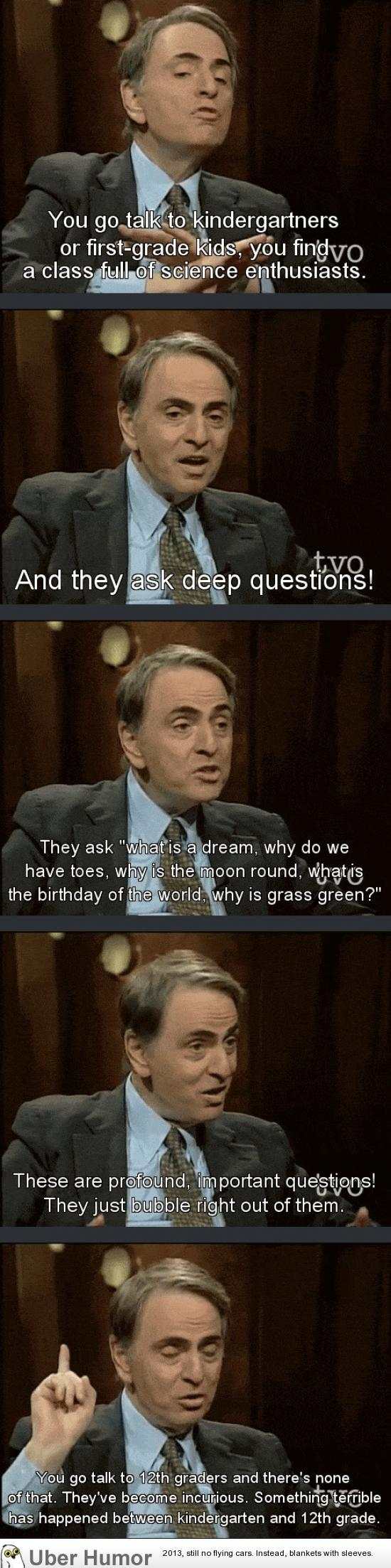 Carl Sagan On Education Funny Pictures Quotes Pics Photos