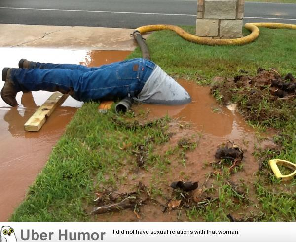 A Water Pipe Busted In My Front Yard Funny Pictures