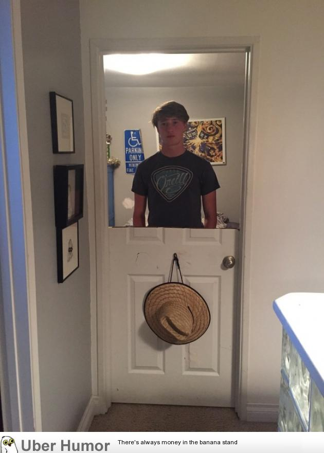 When your brother gets his door cut in half as punishment