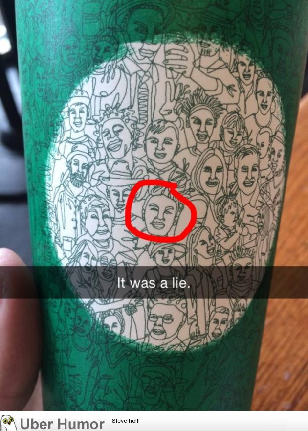 They said the new Starbucks cup art was made with one line ...
