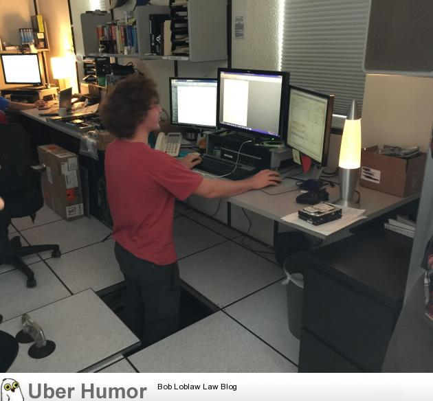 My Coworker Decided He Wanted A Standing Desk Funny